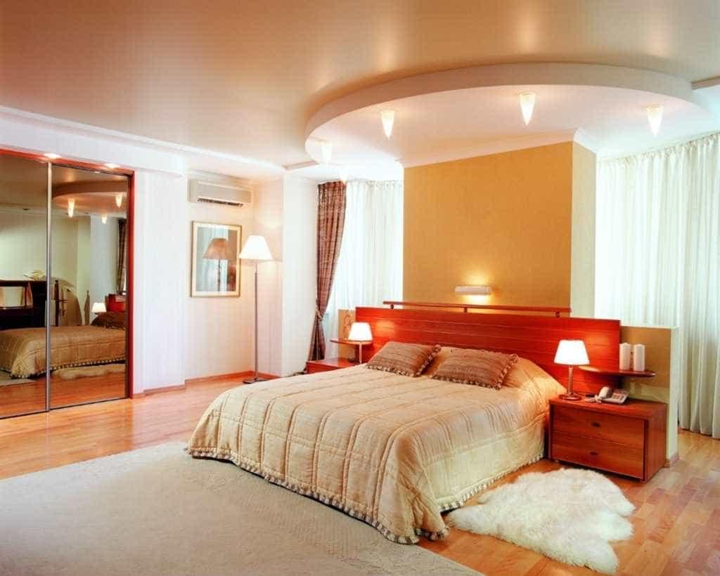 Как сделать натяжной потолок в спальни 450